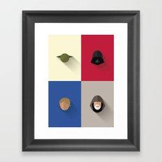 SW The Jedis - Minimalist Poster Framed Art Print