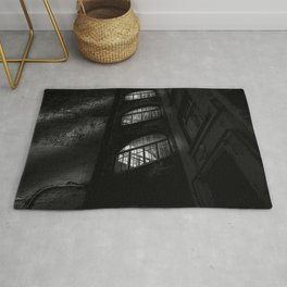 An apartment building, black and white, St. Petersburg (Russia) (2018-7SPB72) Rug