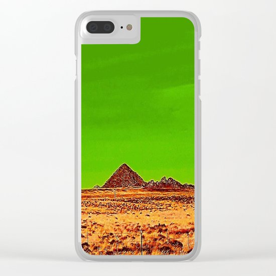 Orange Pyramid in Nevada? Clear iPhone Case