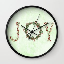 Joy Wreath #3 Wall Clock