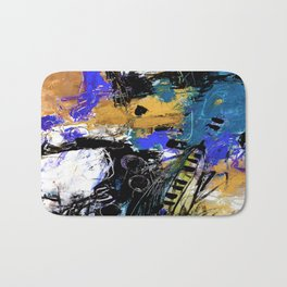 Jazzy Emotions No.1H by Kathy Morton Stanion Bath Mat