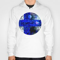 finland Hoodies featuring circuit board Finland by seb mcnulty