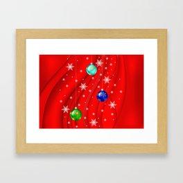 Christmas balls with background Framed Art Print