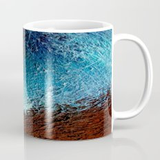 Abstract blue, white and purple painting photography Mug