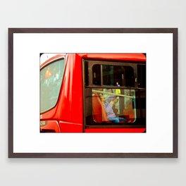TRANSPORT OF BOGOTA COLOMBIA (TransMilenio). Framed Art Print