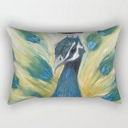 Brooding Peacock Rectangular Pillow