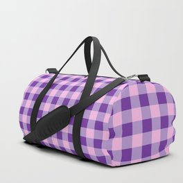 Purple and Pink Check Duffle Bag