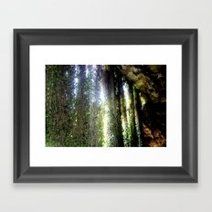 Inside a cave, looking out! Framed Art Print