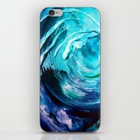 surfing iPhone & iPod Skins featuring Surfing by ART de Luna