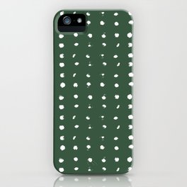 painted dots on forest green iPhone Case
