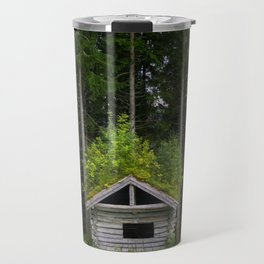 Trees On A Cabin (Norway) Travel Mug