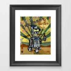 BendR2D2 Framed Art Print