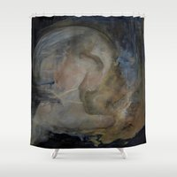 psychology Shower Curtains featuring speculum mentis by Imagery by dianna