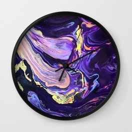 Pooling Paint 4 Wall Clock