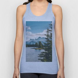 Two Jack Lake & Mt. Rundle Unisex Tank Top