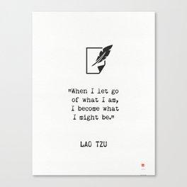 Lao Tzu quote wisdom Canvas Print