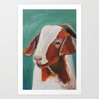 goat Art Prints featuring Goat  by Thistlendixie