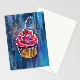 Rainbow Cupcake Stationery Cards