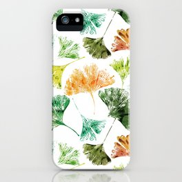 Ginkgo Leaves iPhone Case
