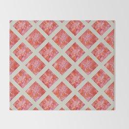 Orange Maidenhair and Flowers Sunprint Trellis Throw Blanket
