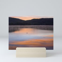 Out of the Depths (Sunrise on Lake George) Mini Art Print