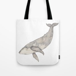 Humpback whale diving Tote Bag