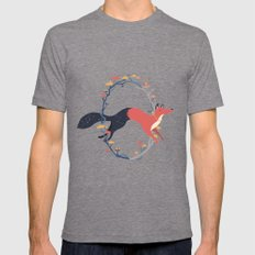 Night & Day Fox SMALL Tri-Grey Mens Fitted Tee