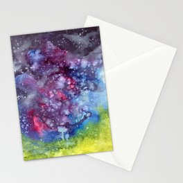 Abstract Galaxy Stationery Cards