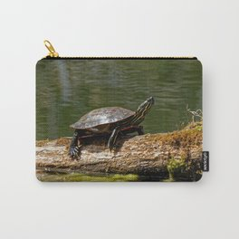 Painted Turtle on a Log - Photography Carry-All Pouch