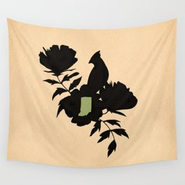 Indiana - State Papercut Print Wall Tapestry