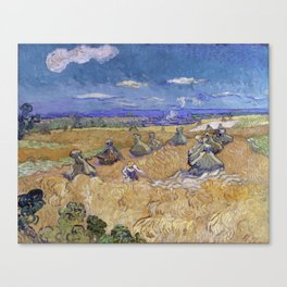 Vincent van Gogh - Wheat Fields with Reaper, Auvers Canvas Print