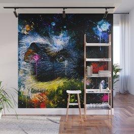 guinea pig colorful side portrait wsstd Wall Mural