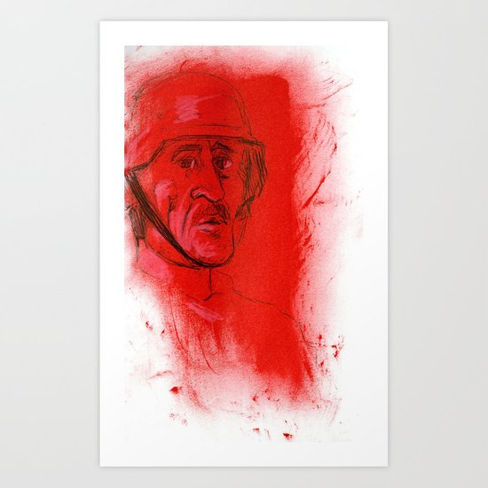 German Soldier from WW2 Art Print