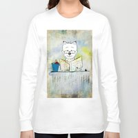 westie Long Sleeve T-shirts featuring West Highland White Terrier ~ Westie ~ Sophisticated Wally ~ Ginkelmier by Ginkelmier