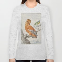 Two Exotic Birds - Vintage Tropical Decor Long Sleeve T-shirt