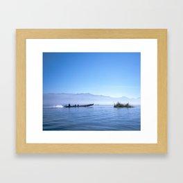 Inle Lake at Dawn Framed Art Print