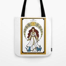 The Norse Goddess Freyja Tarot Card Tote Bag