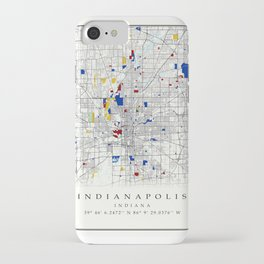 Indianapolis map poster print wall art   Indiana gift    Modern map decor iPhone Case