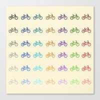 bicycles Canvas Prints featuring Bicycles by George Hatzis