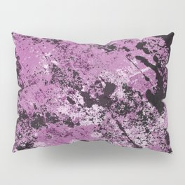 Abstract Texture Deux - Purple, White and Black Pillow Sham