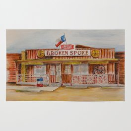 The Broken Spoke - Austin's Legendary Honky-Tonk Watercolor Painting Rug