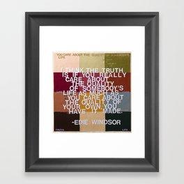 """The Truth Is"" Framed Art Print"