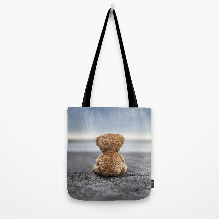 Teddy Blue Tote Bag