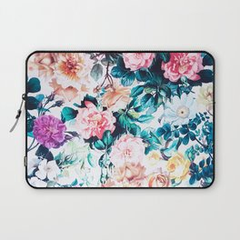 Modern blush pink green watercolor roses floral Laptop Sleeve