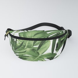 Tropical Jungle Leaves Pattern #12 #tropical #decor #art #society6 Fanny Pack