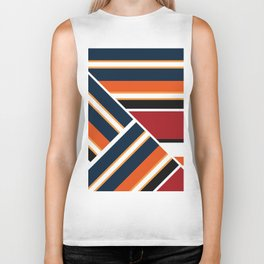 Retro . Combined stripes . Biker Tank