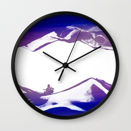 Purple Song of isolation Wall Clock