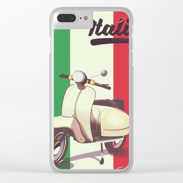 Italia Scooter vintage poster Clear iPhone Case