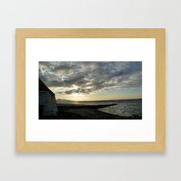 Berneray sunrise Framed Art Print