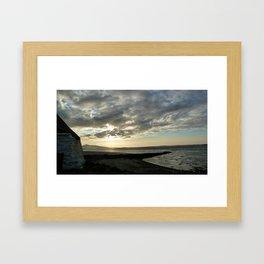 Berneray sunrise Framed Art Print